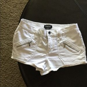 Bebe white shorts